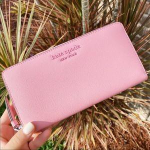Kate Spade Zip-Around Continental Wallet Pink